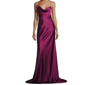 DvF Sleeveless Cowl-Neck Satin Gown - Worn 1x